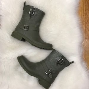 Sam Edelman Keigan Moto Rubber Rain Boot 6
